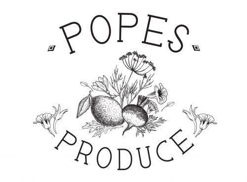 Popes Produce Logo